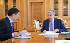 Kassym-Jomart Tokayev receives Magzum Mirzagaliev, Minister of Ecology, Geology and Natural Resources
