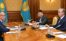 "The Head of State received Galymzhan Pirmatov, Chief Executive Officer of ""Kazatomprom"" National Atomic Company"