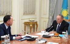 Meeting with Arkhimed Mukhambetov, akim of Kostanay region