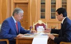 The Head of State receives Askhat Aimagambetov, Minister of Education and Science